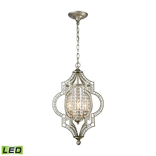 - Alumbrada Collection Gabrielle 3 Light LED Chandelier In Aged Silver