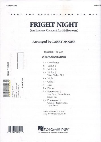 Fright Night (An Instant Concert for Halloween) (Easy Pop Specials for Strings) ()