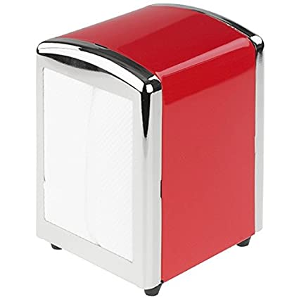 Tala Originals – Dispensador de servilletas, diseño con 50 servilletas, Color Rojo