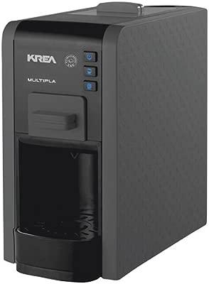 KREA ES200 - Cafetera (Independiente, Máquina espresso, 1 L, Dosis de café, De café molido, Negro)