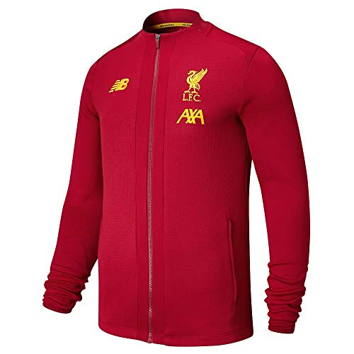 Liverpool FC Red Polyester Mens Soccer Training Red Pre Game Jacket 2019/2020 LFC Official (Fc Liverpool Jacket)