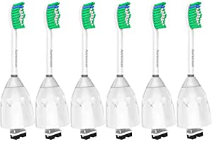 Replacement Toothbrush Heads for Philips Sonicare E-Series HX7022/66, 6pack, Fit Sonicare Essence, Xtreme, Elite,...
