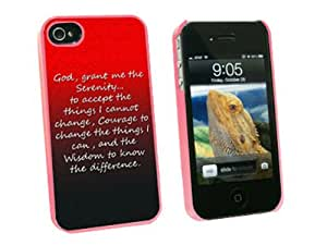 Graphics and More Serenity Prayer - Snap On Hard Protective Case for Apple iPhone 4 4S - Pink - Carrying Case - Non-Retail Packaging - Pink