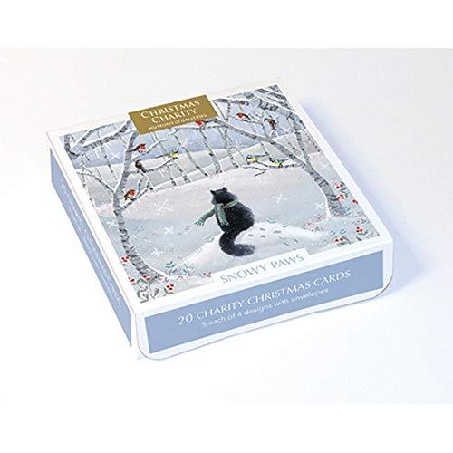 zampe innevate Museums /& Galleries MG-XETC226 motivo confezione da 20 biglietti natalizi di beneficenza artistica
