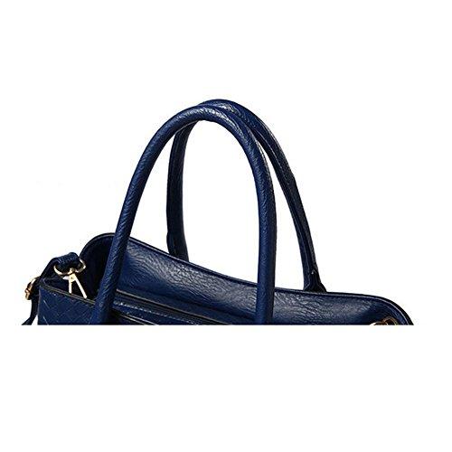 Juego de 3 bolsas Xagoo de cuero de las señoras del bolso de hombro del bolso de las señoras y conjunto del bolso Las mujeres en cuero de la vendimia (Estilo 3) Estilo 2