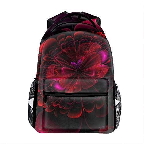 Abstract Butterflies Flower School Travel Backpack for Boys Waterproof