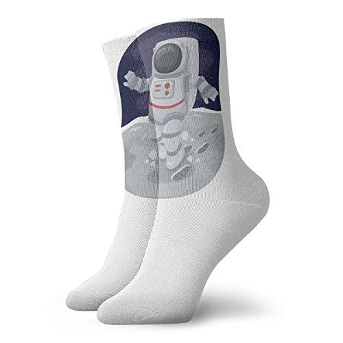 YUANSHAN Socks Astronaut On The Planet Women & Men Socks Soccer Sock Sport Tube Stockings Length 11.8Inch]()