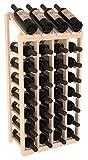 Cheap Wine Racks America Ponderosa Pine 4 Column 8 Row Display Top Kit. Unstained