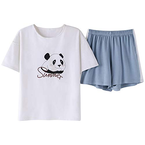 (Jashe Panda Pajamas for Girls - Summer Shorts & Sleep Tee Cute Tween PJS Set Nighty Teen Size)
