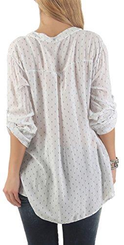 Print Ancre Tunique Taille 9013 Oversize Haut Malito Femme 3 avec Blanc Blouse 4 Loose Unique tqxHaYEgw