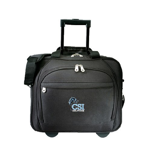 College of Staten Island Embassy Plus Rolling Black Compu Brief 'Official Logo' by CollegeFanGear