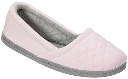 Dearfoams Womens Microfiber Velour Espadrille Slippers