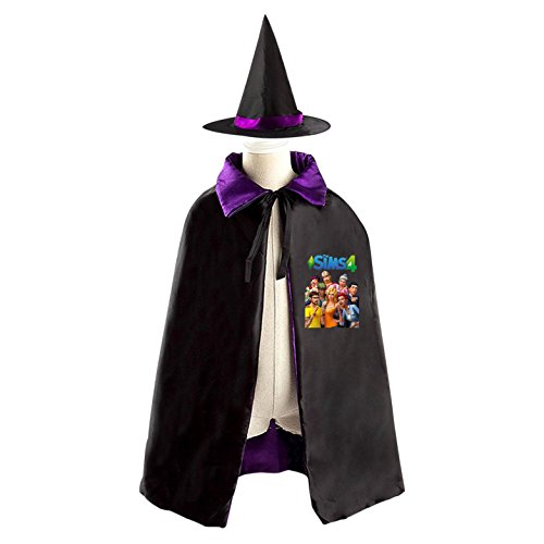 The Sims Interesting Laugh TV Series Children's Halloween cape Including Wizard (Sims 3 Halloween Costume Party)