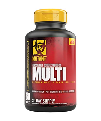 (Mutant Multi - High Potency Vitamins with 75+ Ingredients Specifically Formulated for Heavy Lifting, 60 Tablets)