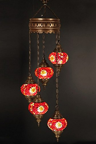 Turkish Glass Pendant Lights in US - 9