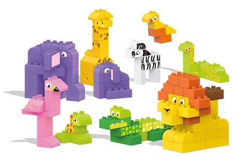 Mega Bloks My Safari Friends Building Blocks Building Kit