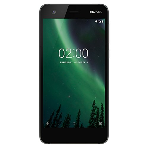 "Nokia 2 - 8GB - Unlocked Phone (AT&T/T-Mobile) - 5"" Screen - Black (U.S. Warranty)"