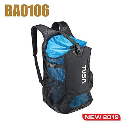 TUSA BA-0106-BK Mesh Backpack with Drybag, Black/Blue