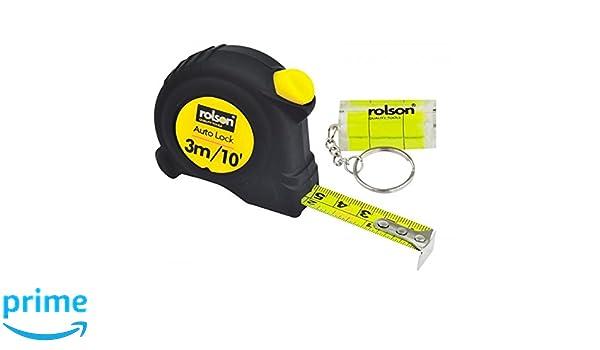 Rolson - Cinta métrica (3 m x 16 mm), color amarillo y negro: Amazon.es: Industria, empresas y ciencia