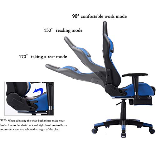 Wondrous Blue Chairs Sofas Edwell Ergonomic Gaming Chair With Caraccident5 Cool Chair Designs And Ideas Caraccident5Info