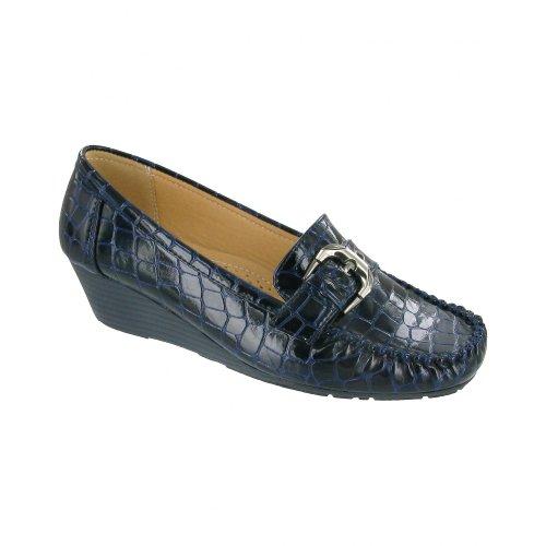 Zapatillas Para Mujer Amblers Kensington / Zapatos De Mujer / Slip-on Mujeres Zapatos (8 Us) (azul Marino)
