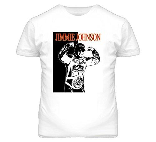 Johnson Racing T-shirt Jimmie (BrooklynSteez Men's Jimmie Johnson Auto Racing T Shirt 5XL White)