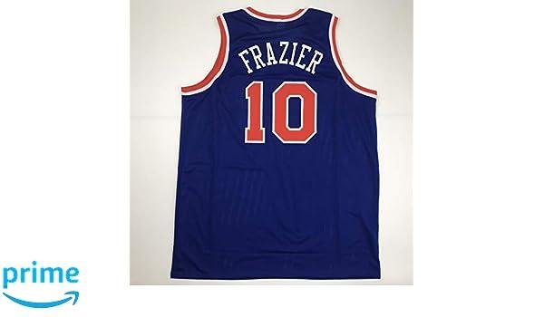 more photos 3c08e 26325 Unsigned Walt Frazier New York Blue Custom Stitched ...