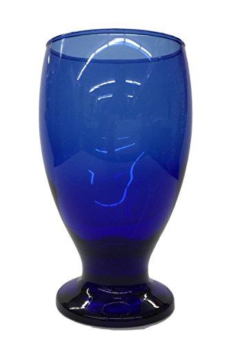 - Stub Stem Water Glass Goblet 11.75 Oz, Set of 4 (Blue)