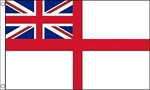 White Ensign 5' x 3' flag St George's Ensign Royal Navy Marine by Midland Import