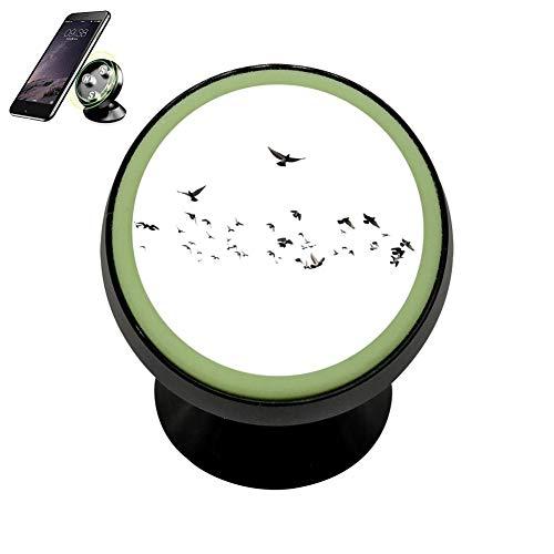 LIHHOLI Birds Vehicle Phone Mount Magnetic Mobile Phone Car Cradle Stand Dashboard Multi-Function Mounts Holder 360 Universal Noctilucent Kit ()