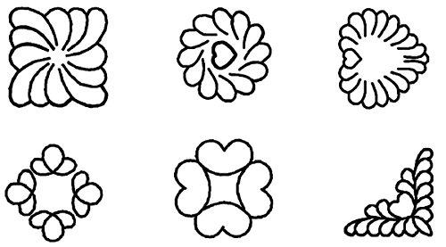 Block Quilt Stencil Feather (Quilt Stencils-2
