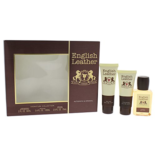 (Dana English Leather 3 Piece Gift Set for)