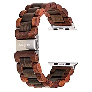 Amazon.com: Sangaimei Handcrafted Wooden Band Compatible for ...