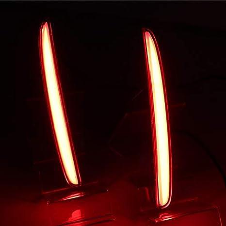 2 Functions TOOGOO 2Pcs for Hatchback 2016 2017 2018 Multi-Function Led Rear Bumper Light Rear Fog Lamp Auto Bulb Brake Light Reflector
