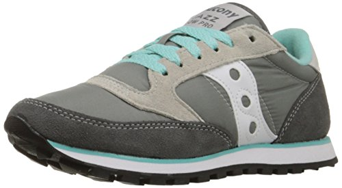 Pelle Originals Saucony In Jazz Donna Grey Pro Sneaker white Low Fashion TZ8Zr1p