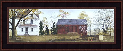Spring Flowers For Sale by Billy Jacobs Farm Barn Wagon Folk Art Country Print 9x21 Wall Décor Framed Picture