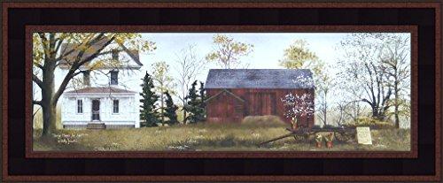 ale by Billy Jacobs Farm Barn Wagon Folk Art Country Print 9x21 Wall Décor Framed Picture ()