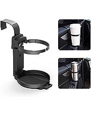 LITTLEMOLE Car Cup Holder, Vehicle Door Cup Holder, Adjustable Folding Drink Holder for Truck Interior, Soda Cans, Water Bottles, Coffee