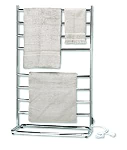 Warmrails WHC Hyde Park 39-Inch Family Size Floor Standing Towel Warmer, Chrome Finish