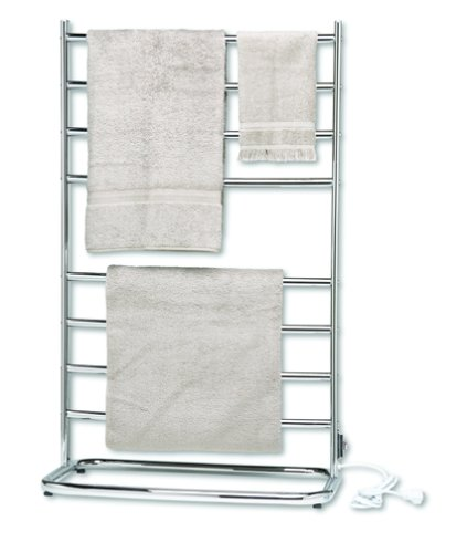 (Warmrails WHC Hyde Park Family Size Floor Standing Towel Warmer, Chrome Finish)