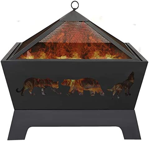 LEMY 26 Inch Outdoor Metal Stove Fire Pit