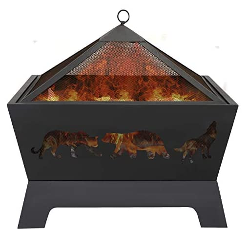 Fire Pits ZENY 26 inch Fire Pit Outdoor Wood Burning Fireplace Patio Firepit Bowl Stove with Spark Screen Waterproof Cover Fire… firepits