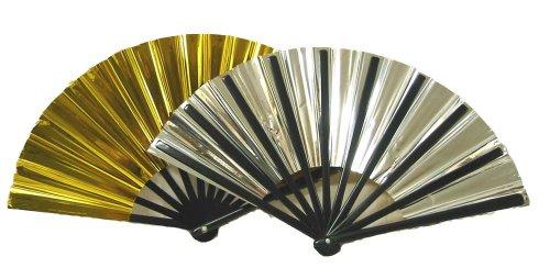 Gold and Silver Folding Fan - Stores Scottsdale In Az
