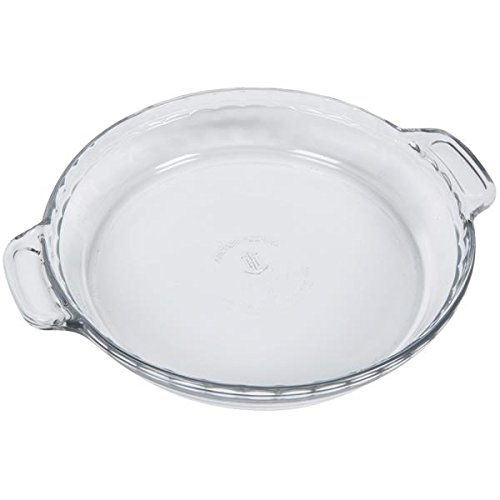 Anchor Hocking 81214L11 Glass Pie Plate - 9.5-Inch/24cm, 3 Cases