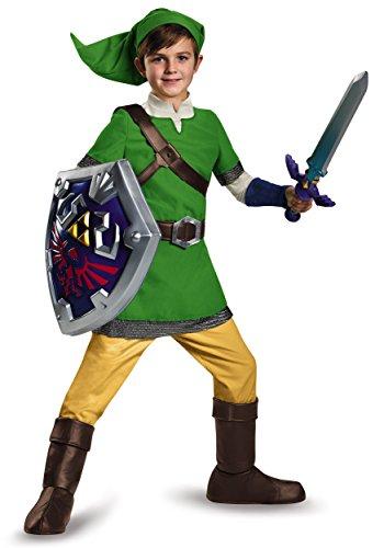 Link Deluxe Child Costume, Large (Legend Of Zelda Link Costume Kids)