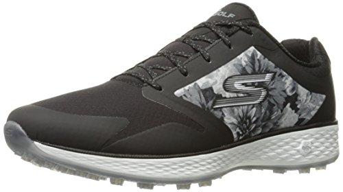 Skechers Performance Women's Go Golf Birdie Tropic Golf Shoe, Black/White Tropic, 7.5 M US