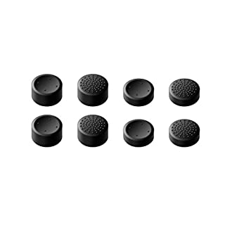 GameSir Xbox One Controller Thumb Grips, Analog Stick Grips Covers Skins for Xbox One/Slim Controller, Best Caps for Gaming - Black (8 Pack)