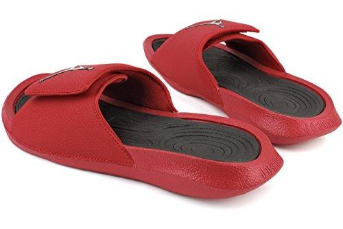 Jordan Herren Hydro 6 Slide Sandalen Fitnessstudio Rot Schwarz