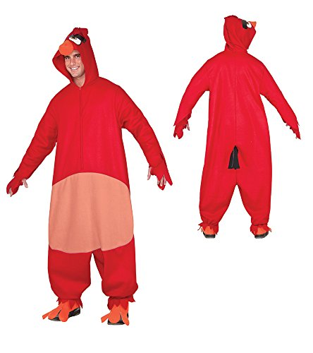 [Rubie's Costume Co. Men's Angry Birds Movie, Red, As Shown, Standard] (Bird Costumes Women)