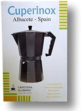 CUPERINOX S.L. - Cafetera Aluminio 12 Tazas Color Gris: Amazon.es ...